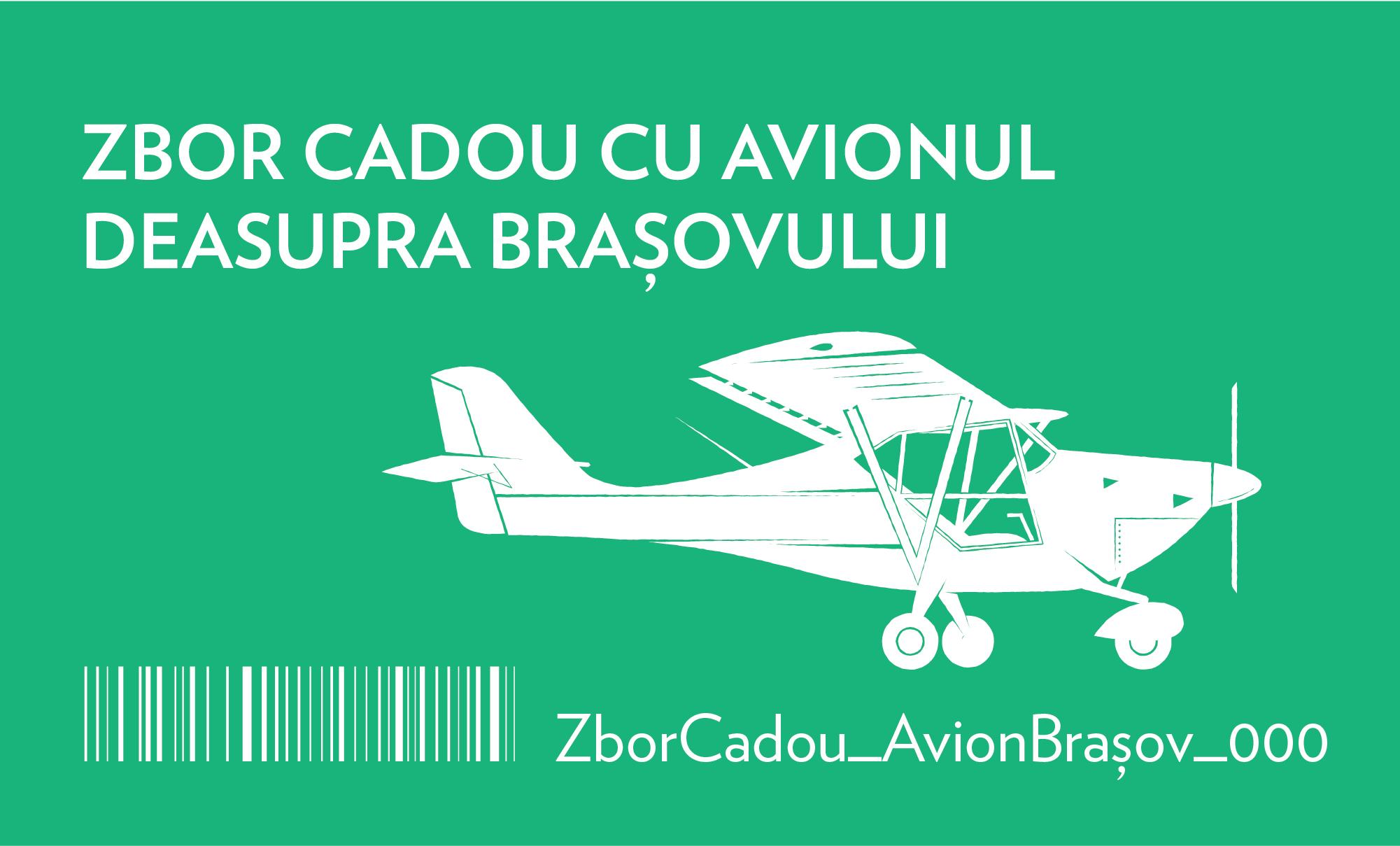 zbor cadou cu avionul deasupra brașovului