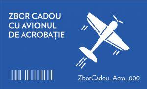 zbor cadou cu avionul de acrobație